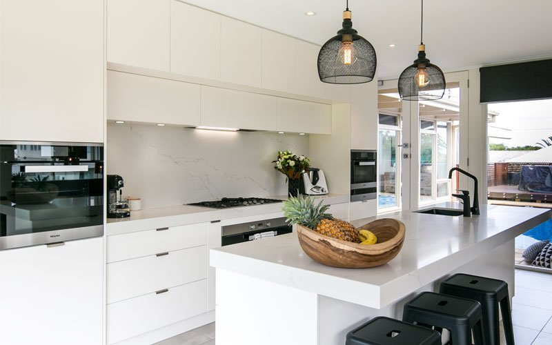 modern white kitchen with thermomix