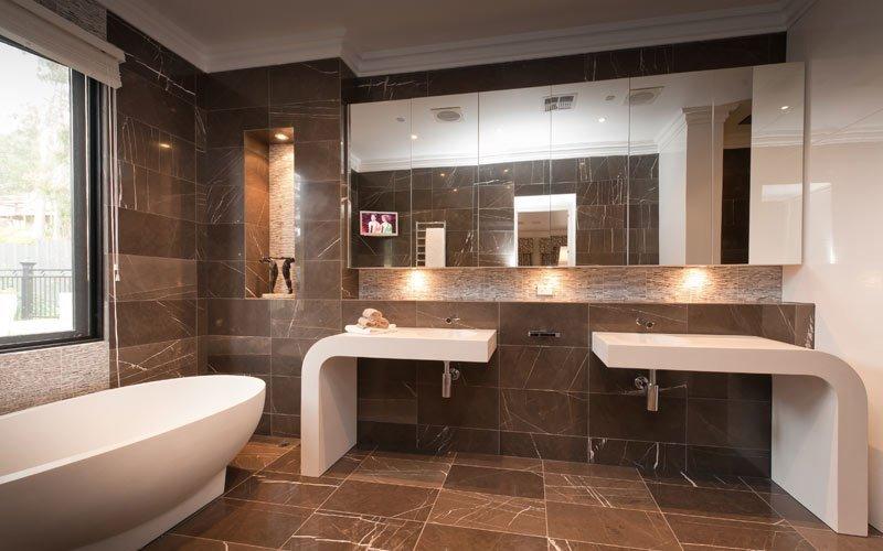 bathroom make-over with double vanity