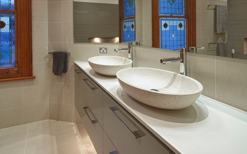 stone sink vanity