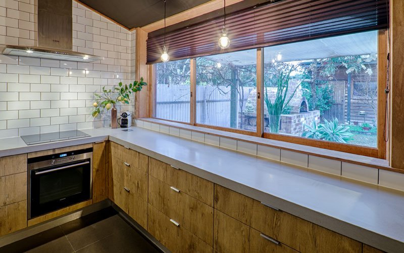 kitchen with outdoor view